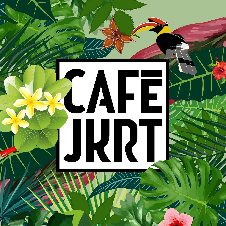 Logo en stijl cafe Jakarta