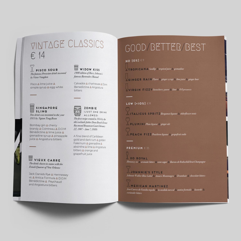 Cocktailkaart Malabar